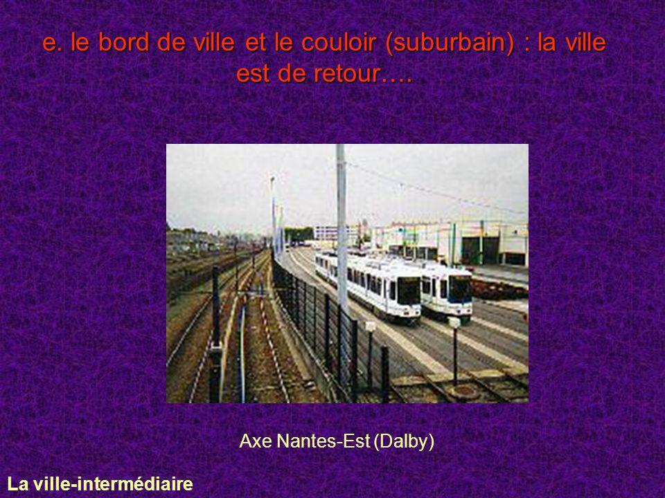 e. le bord de ville et le couloir (suburbain) : la ville est de retour…. Axe Nantes-Est (Dalby) La ville-intermédiaire
