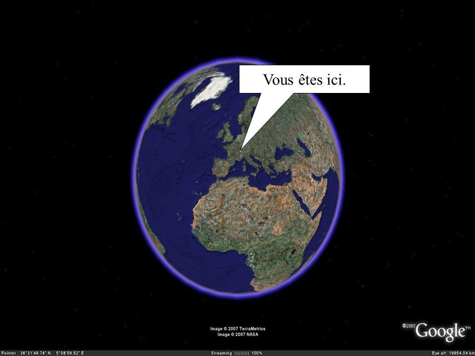 Vous êtes ici.