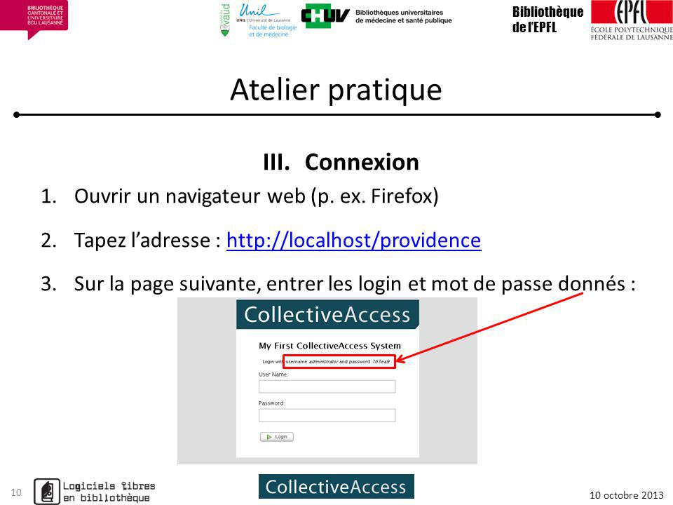 Atelier pratique III.Connexion 1.Ouvrir un navigateur web (p.