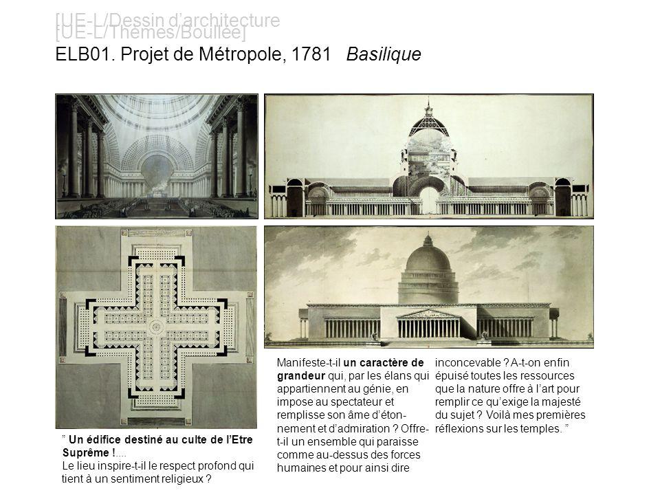 [UE-L/Dessin darchitecture [UE-L/Thèmes/Boullée] ELB12. Projet du temple à la nature
