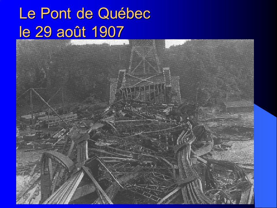 Prof. A.-G. Dumont - EPFL - Lausanne Le Pont de Québec le 11 septembre 1916