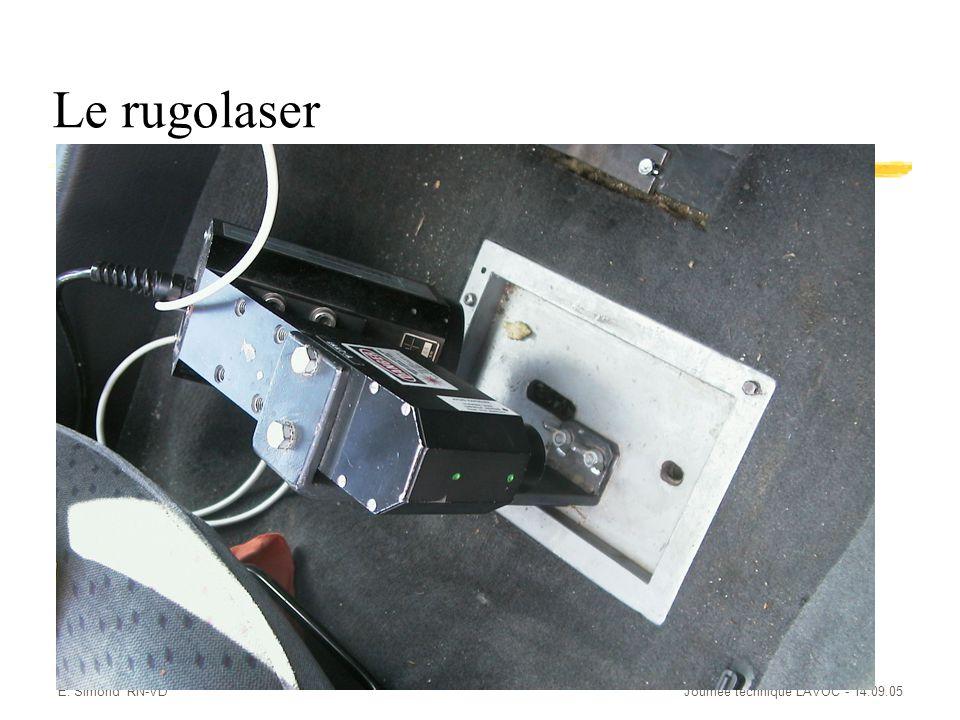 E. Simond RN-VDJournée technique LAVOC - 14.09.05 Le rugolaser