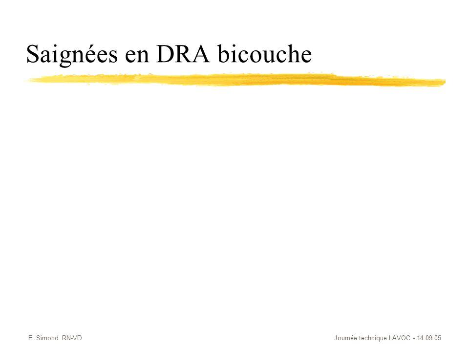 E. Simond RN-VDJournée technique LAVOC - 14.09.05 Saignées en DRA bicouche
