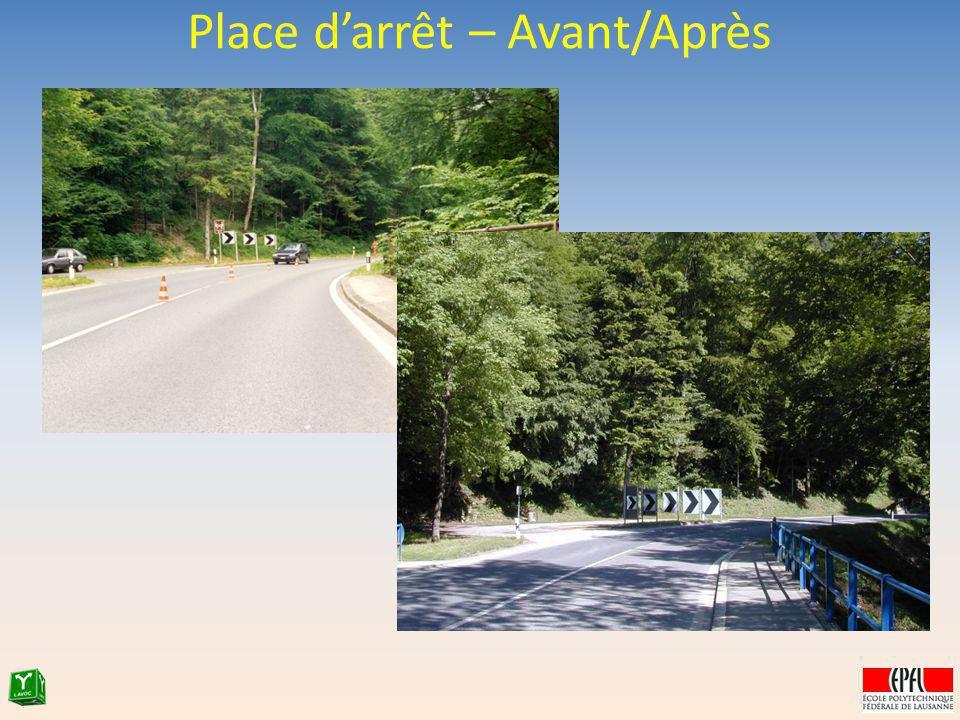 Place darrêt – Avant/Après