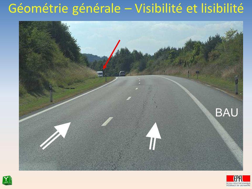 Géométrie générale – Visibilité et lisibilité BAU