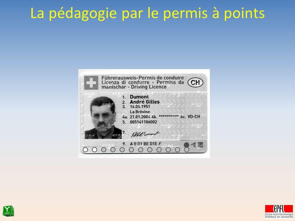 La pédagogie par le permis à points