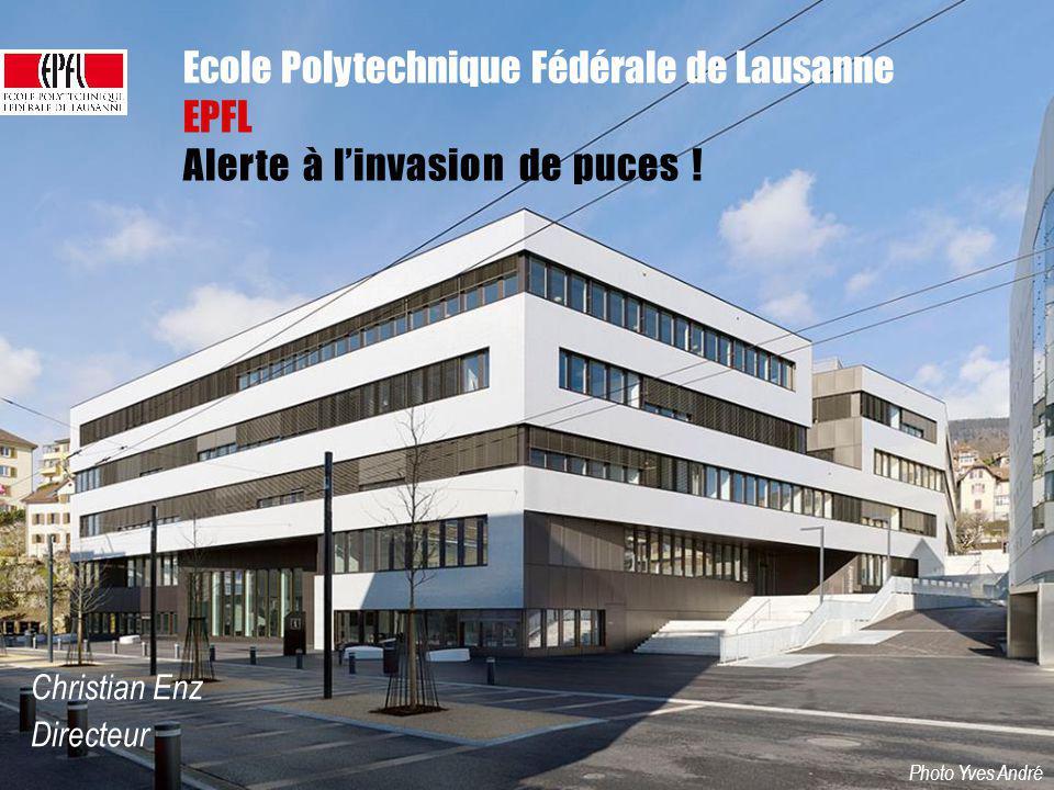Inauguration Microcity Ecole Polytechnique Fédérale de Lausanne EPFL Photo Yves André Alerte à linvasion de puces ! Christian Enz Directeur