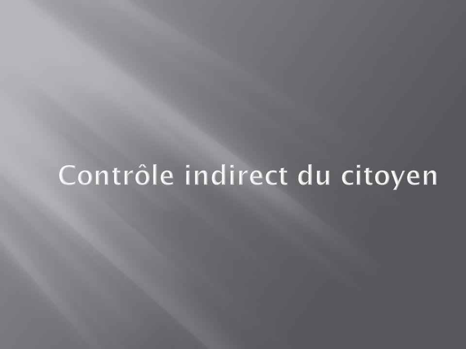 Contrôle indirect du citoyen