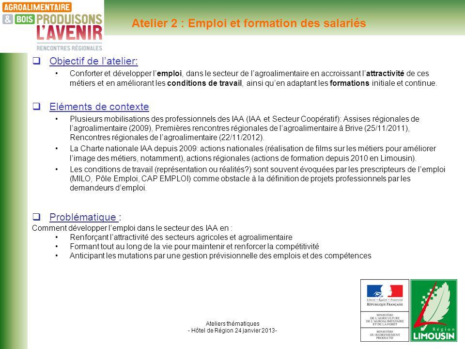 Ateliers thématiques - Hôtel de Région 24 janvier 2013- TEMOIGNAGE : Monsieur C.