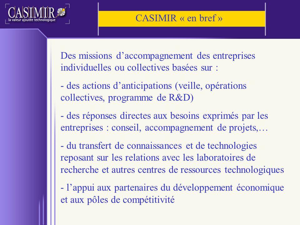 Des missions daccompagnement des entreprises individuelles ou collectives basées sur : - des actions danticipations (veille, opérations collectives, p