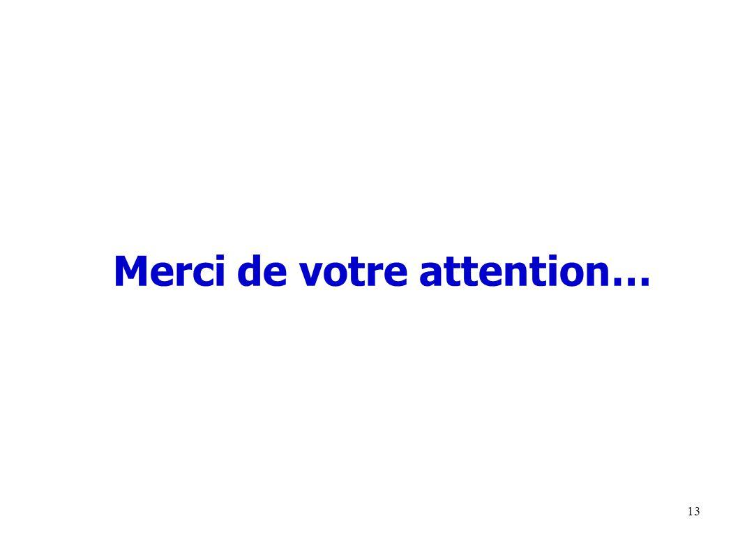 13 Merci de votre attention…