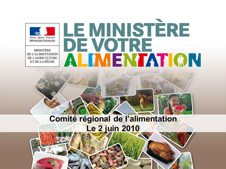 Comité régional de lalimentation Le 2 juin 2010