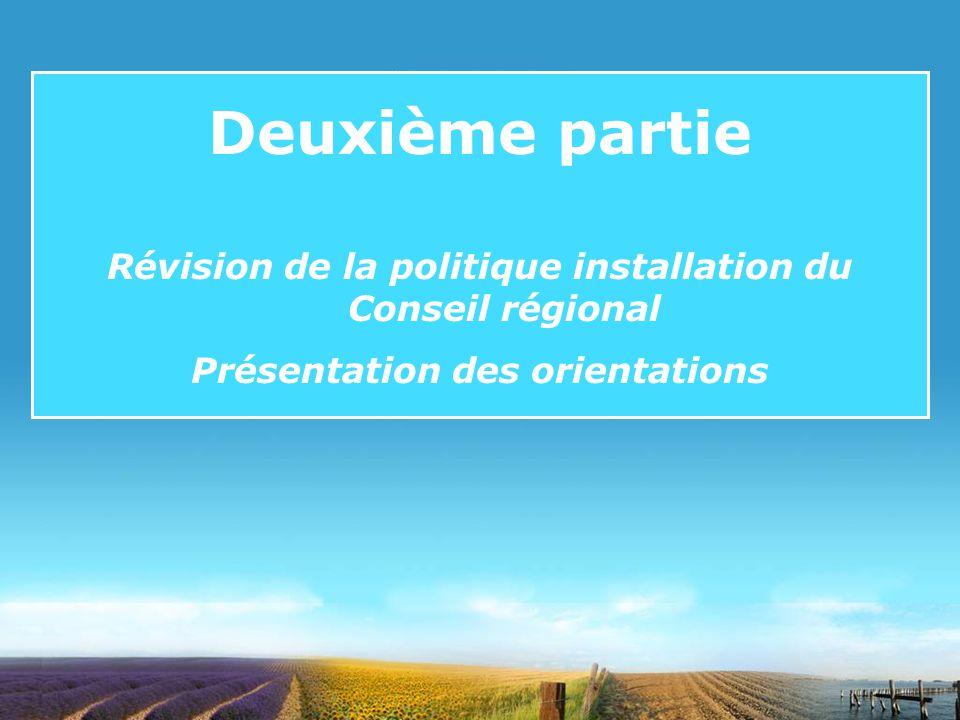 8 Dispositifs daccompagnement à linstallation et réponses à lappel à projet PIDIL Installation / Évolution réglementaires et Utilisation des terres De