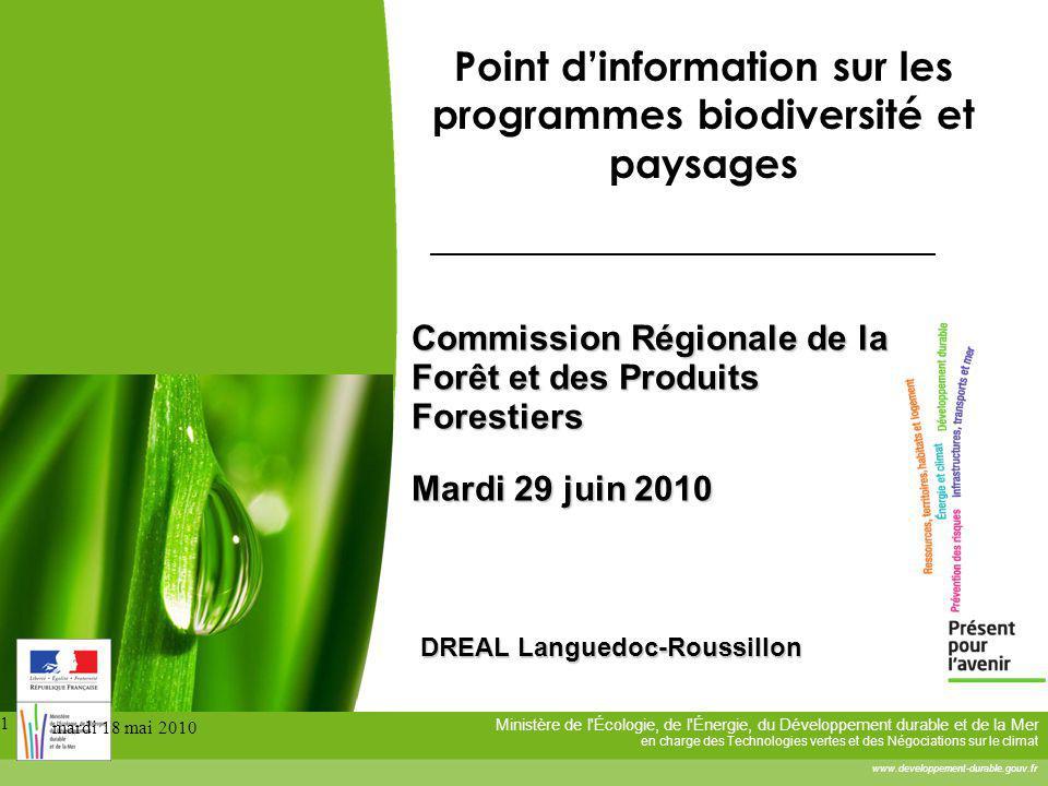 Ministère de l'Écologie, de l'Énergie, du Développement durable et de la Mer en charge des Technologies vertes et des Négociations sur le climat www.d