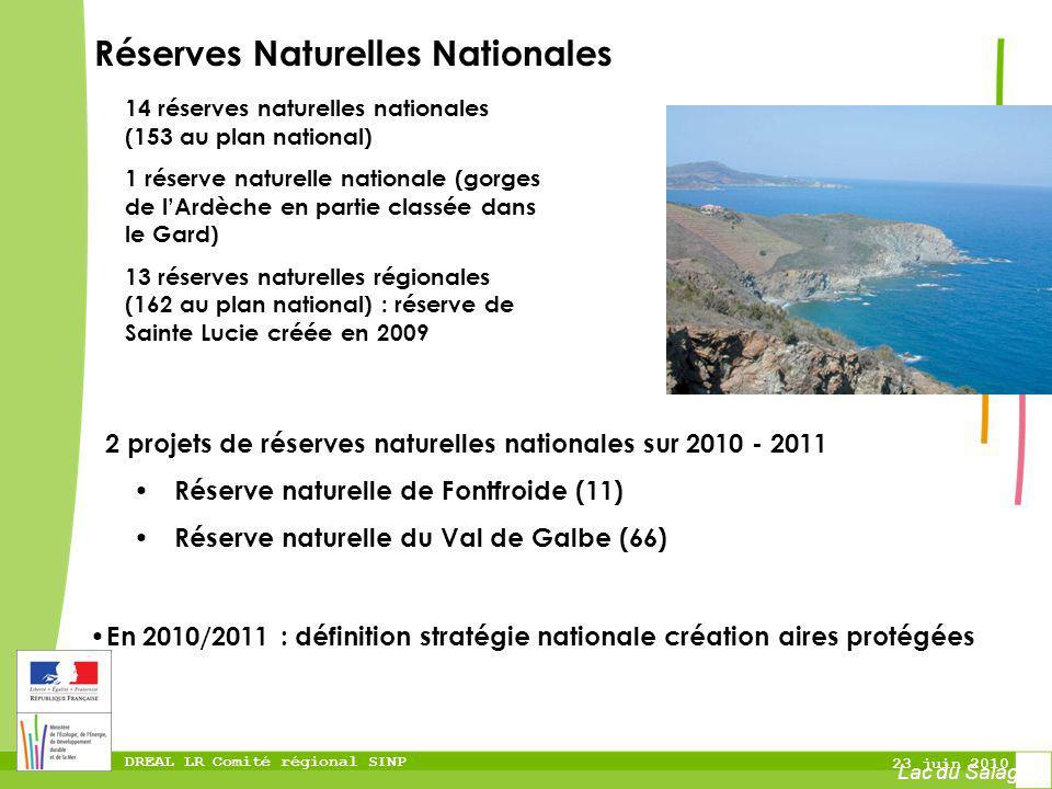 DREAL LR Comité régional SINP 23 juin 2010 2 projets de réserves naturelles nationales sur 2010 - 2011 Réserve naturelle de Fontfroide (11) Réserve na