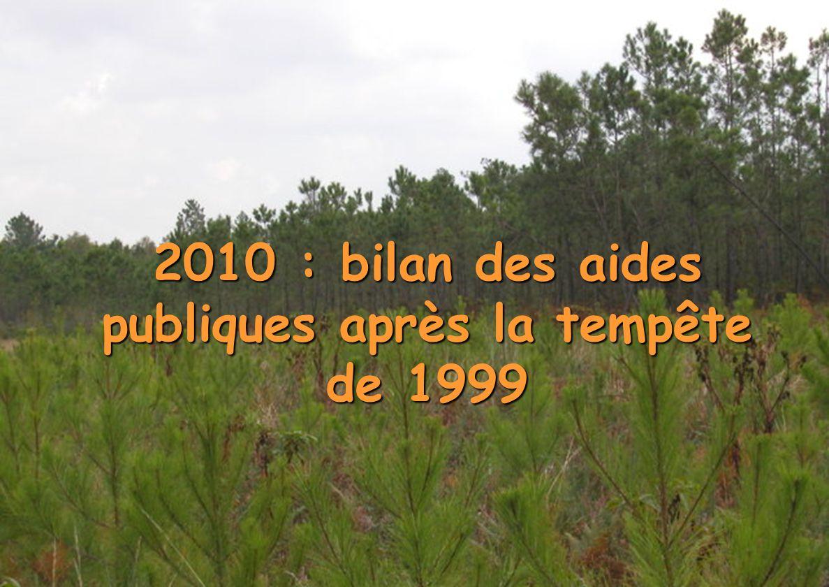 Direction Régionale de l Alimentation de l Agriculture et de la Forêt Poitou-Charentes CRFPF du 30 Mars 2010 1 2010 : bilan des aides publiques après la tempête de 1999