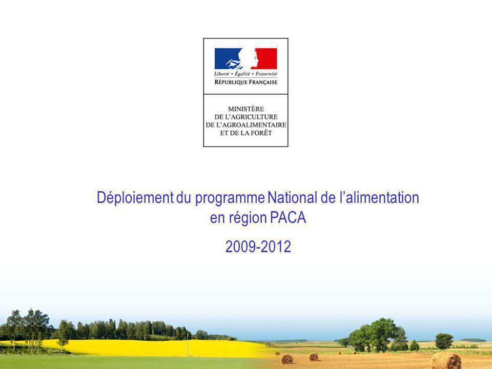 Déploiement du programme National de lalimentation en région PACA 2009-2012