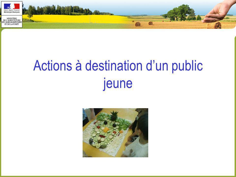 Actions à destination dun public jeune