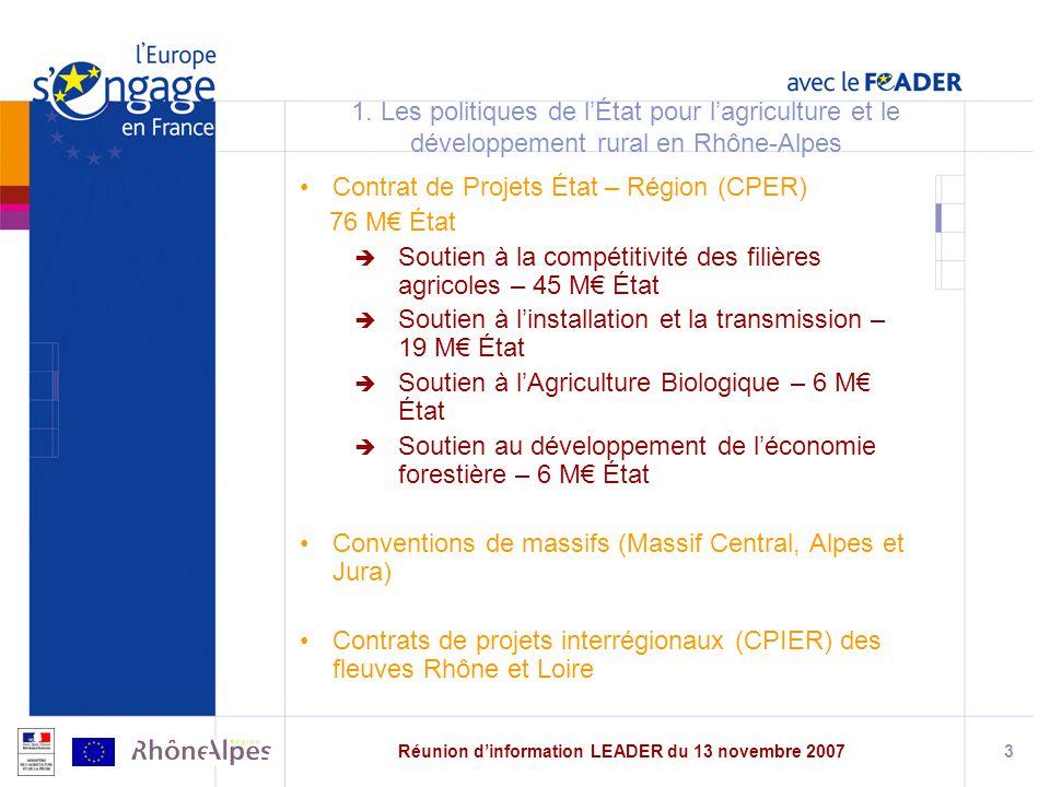 Réunion dinformation LEADER du 13 novembre 20073 1.