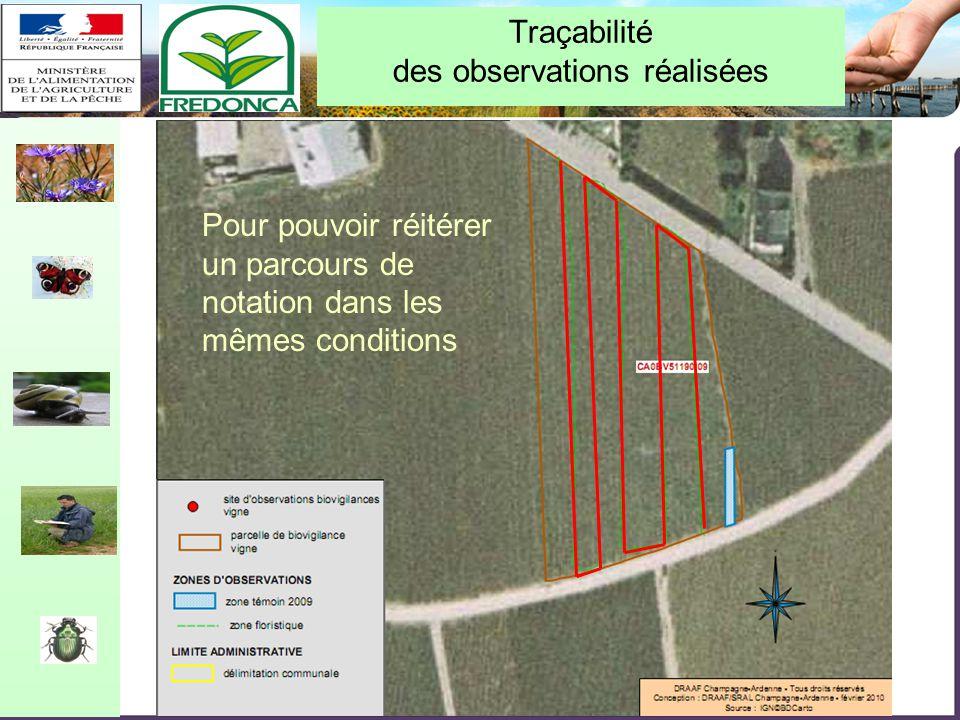 Restitution biovigilance 2010 – Chalon-en-Champagne le 10/02/11 Traçabilité des observations réalisées