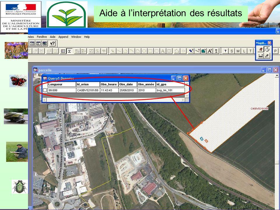 Restitution biovigilance 2010 – Chalon-en-Champagne le 10/02/11 GPS : outil de travail des techniciens de terrain Zone témoin herbicide 2010 Zone témo