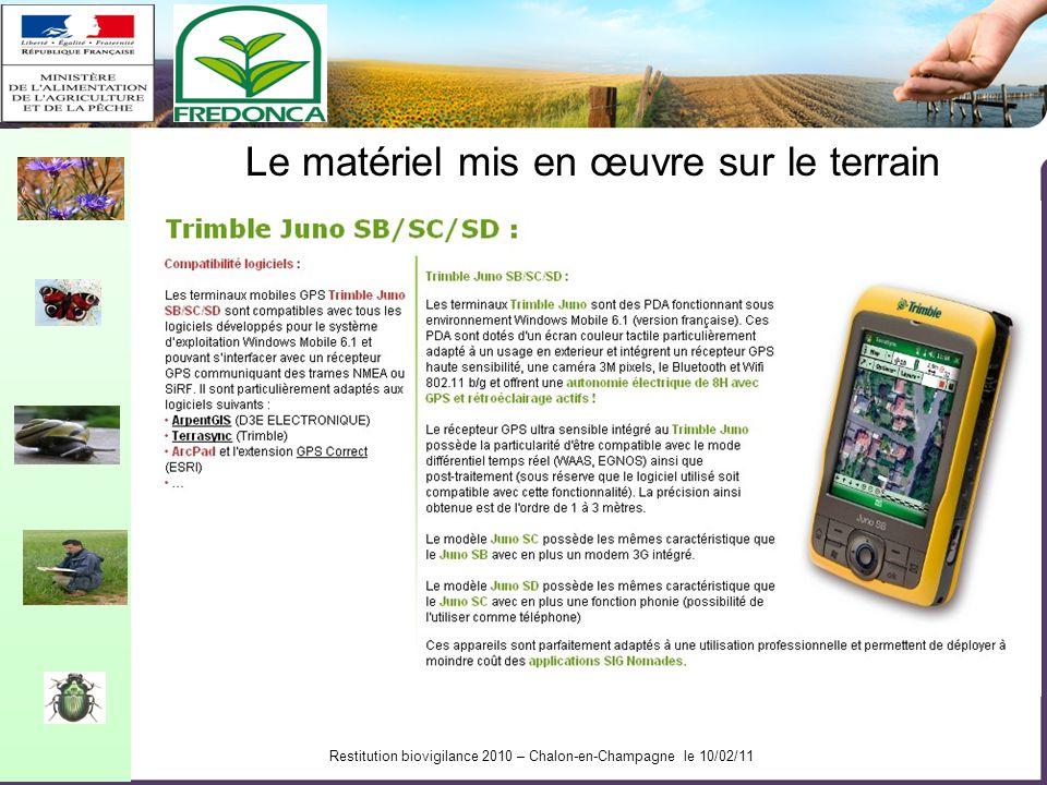 Restitution biovigilance 2010 – Chalon-en-Champagne le 10/02/11 Réflexion thématique en amont du projet Puisque le géoréférencement apporte de véritab