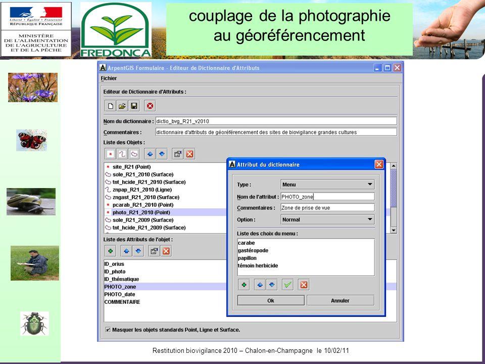 Restitution biovigilance 2010 – Chalon-en-Champagne le 10/02/11 Cartographie régionale des sites observés