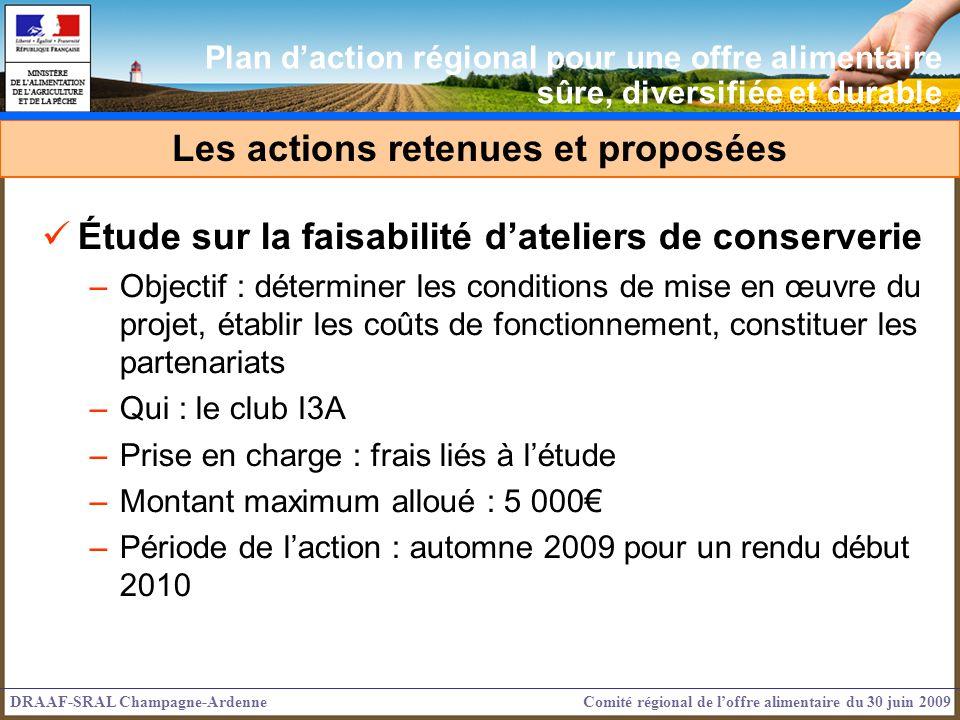 Étude sur la faisabilité dateliers de conserverie –Objectif : déterminer les conditions de mise en œuvre du projet, établir les coûts de fonctionnemen