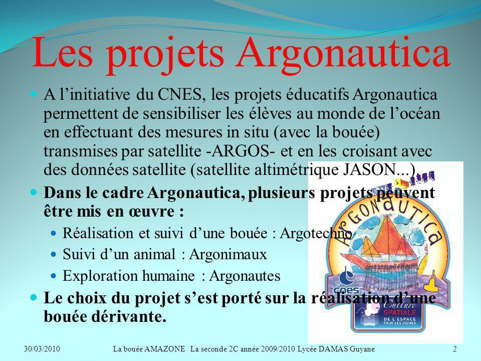 Les projets Argonautica A linitiative du CNES, les projets éducatifs Argonautica permettent de sensibiliser les élèves au monde de locéan en effectuan