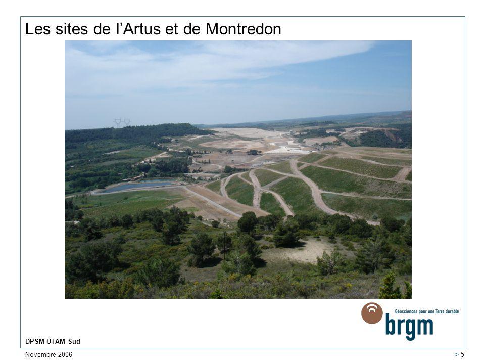 Novembre 2006 DPSM UTAM Sud > 16 Nécessité dun pompage sur les drains du bassin de Montredon