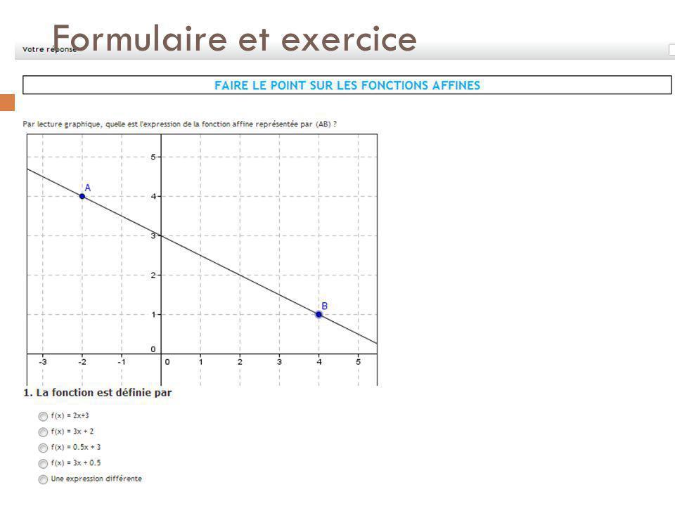 Formulaire et exercice