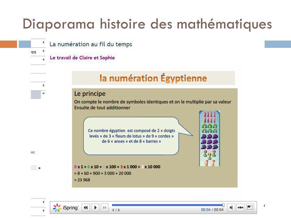 Diaporama histoire des mathématiques
