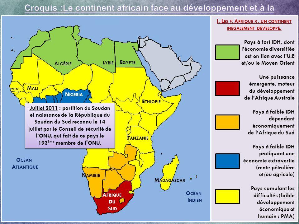 G G Quels obstacles majeurs handicapent le développement du continent .
