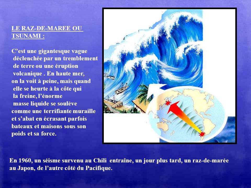 LES LES LES DANGERS : Sur limmense étendue des océans, les phénomènes météorologiques sont parfois dune extrême violence. Dans lOcéan Indien, sous les