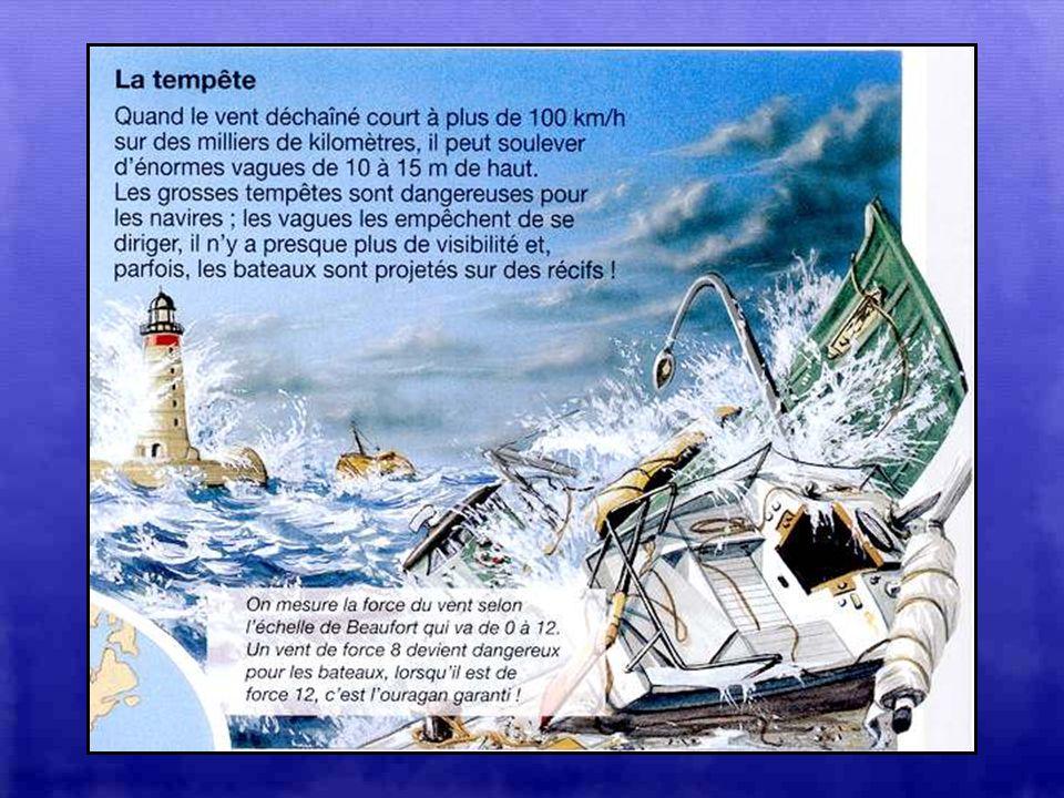 LE RAZ-DE-MAREE OU TSUNAMI : Cest une gigantesque vague déclenchée par un tremblement de terre ou une éruption volcanique. En haute mer, on la voit à