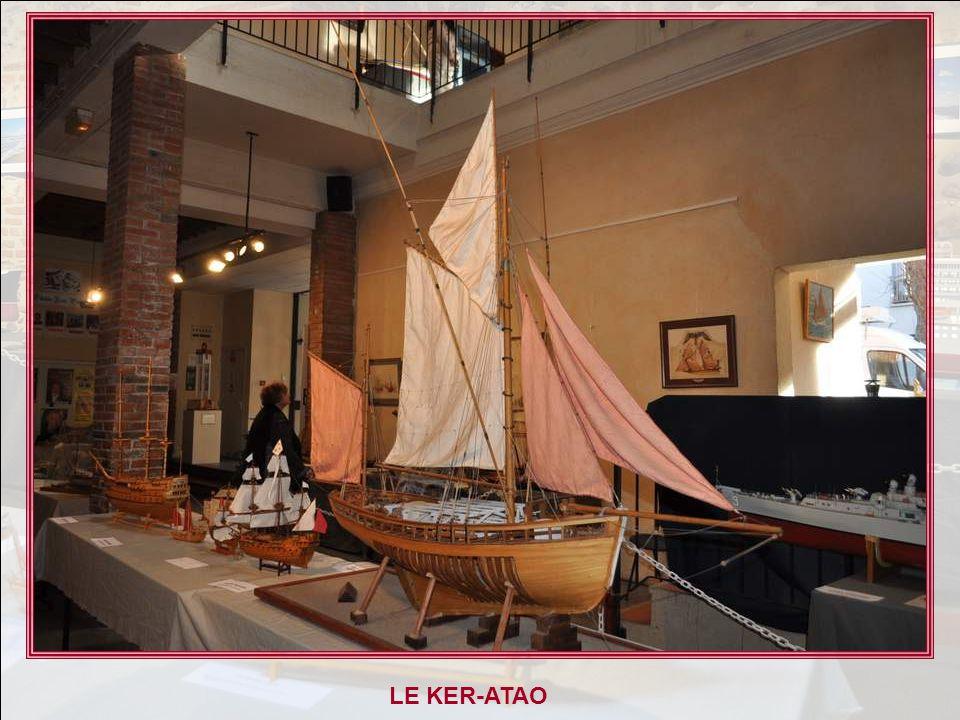 LE KER-ATAO Thonier de Concarneau Maquette au 1/16 du thonier Ker-Atao, construit en 1927 par le chantier Le Roy à Concarneau, pour Monsieur Henri Cor