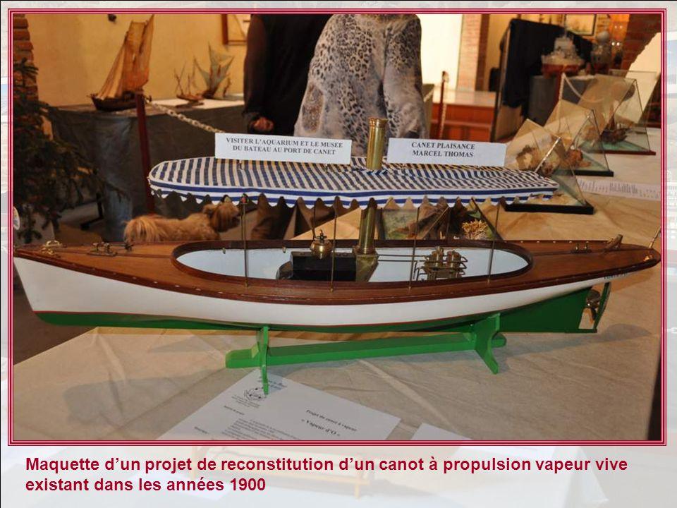 Maquette dun projet de reconstitution dun canot à propulsion vapeur vive existant dans les années 1900