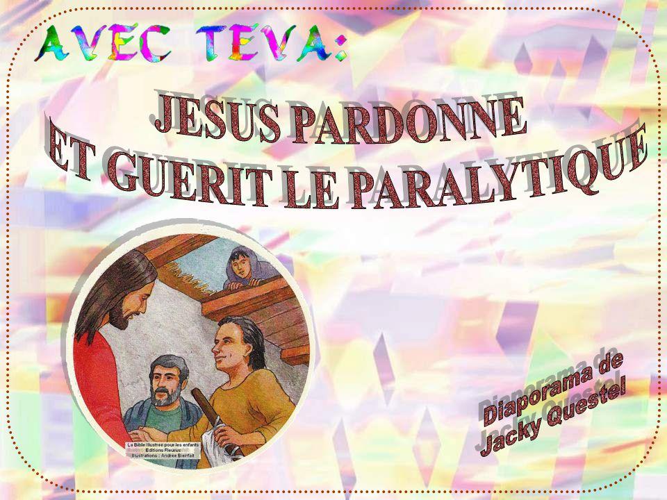 Et tu as vu, sur limage précédente, Jésus tend la main vers le paralytique pour lui dire : tes péchés te sont remis.