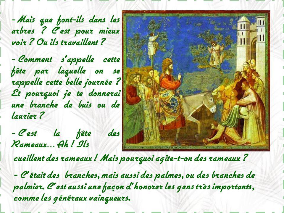 - Mais pourquoi ils criaient : Hosanna au fils de David .