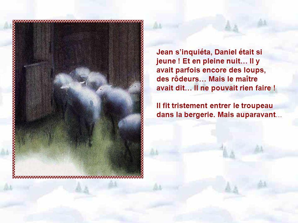 Hélas .Daniel chercha, appela, fureta partout… agneau resta introuvable.