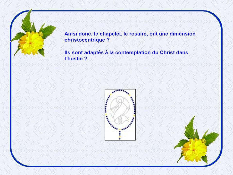 Et, dailleurs, le Saint-Père vient de décréter une année eucharistique : ne voudrait-il pas reprendre, en quelque sorte une erreur dorientation .