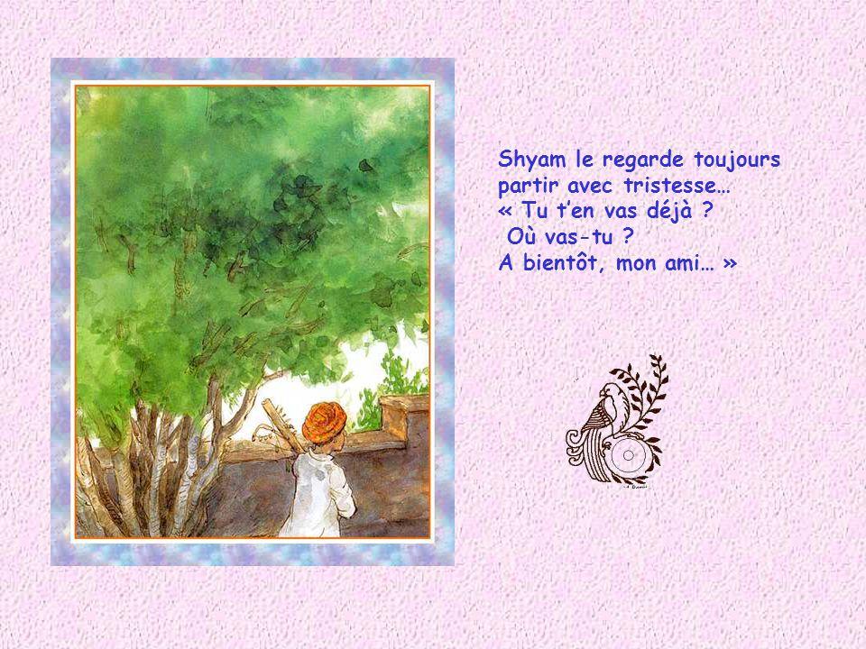 Shyam le regarde toujours partir avec tristesse… « Tu ten vas déjà .