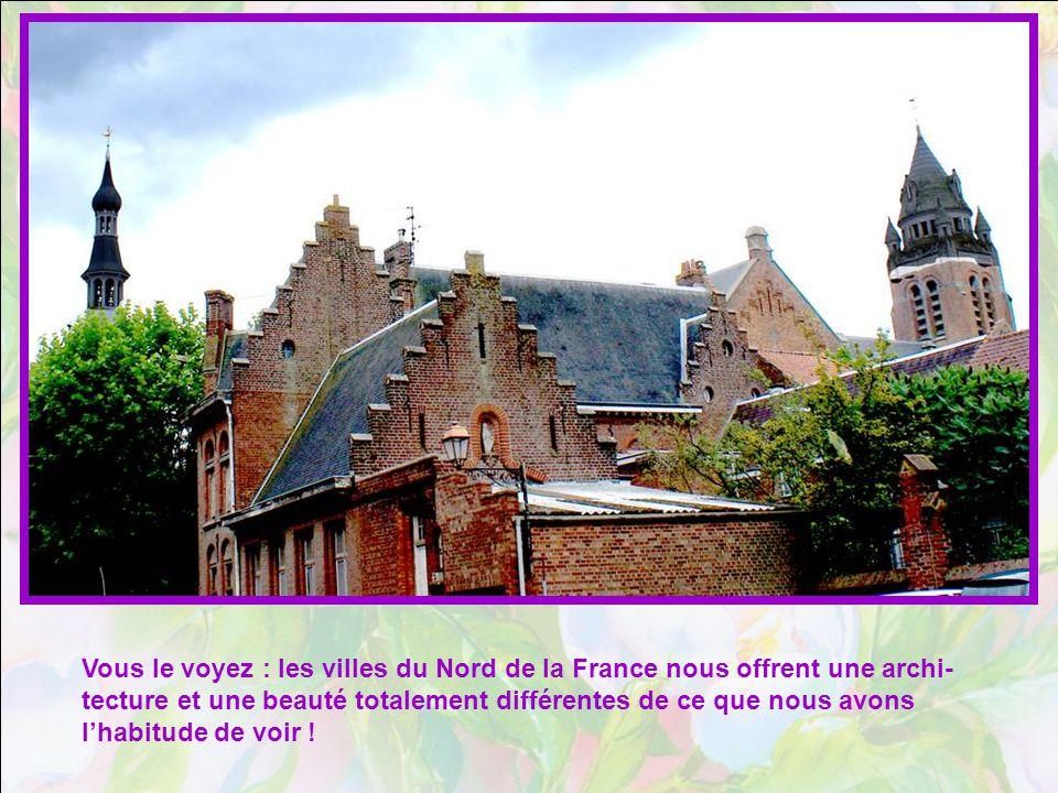 Vous le voyez : les villes du Nord de la France nous offrent une archi- tecture et une beauté totalement différentes de ce que nous avons lhabitude de voir !