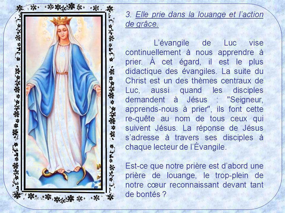 2. Elle croit en un Dieu personnel qui agit dans lhistoire humaine et dans sa propre vie. Le Dieu du Magnificat nest pas distant, impersonnel. Le Dieu