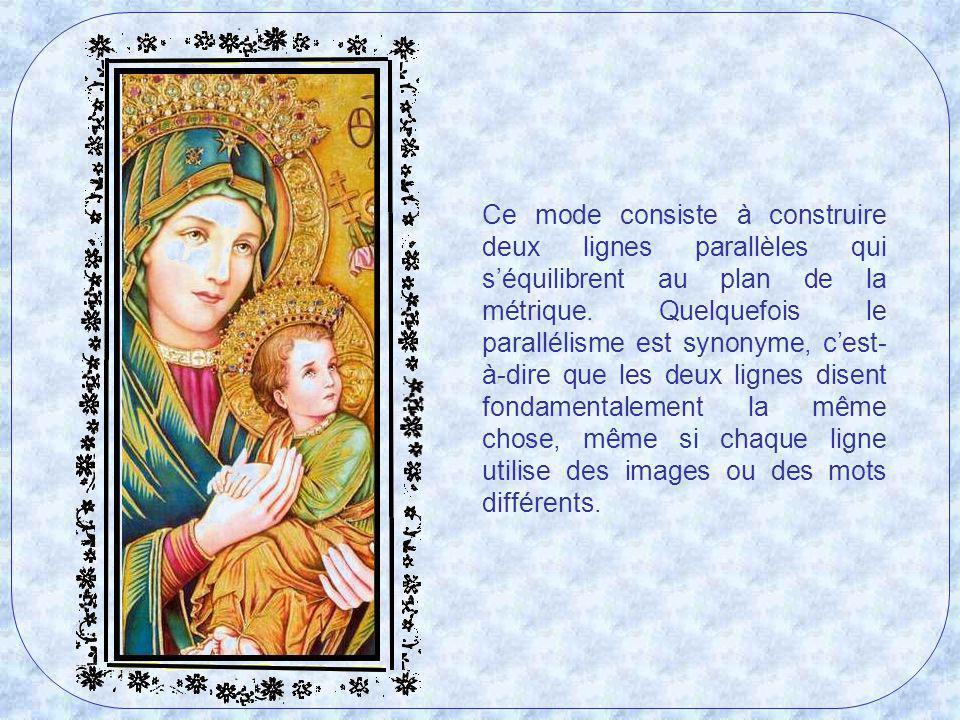 Le cantique de Marie ressemble au type de psaumes connus comme