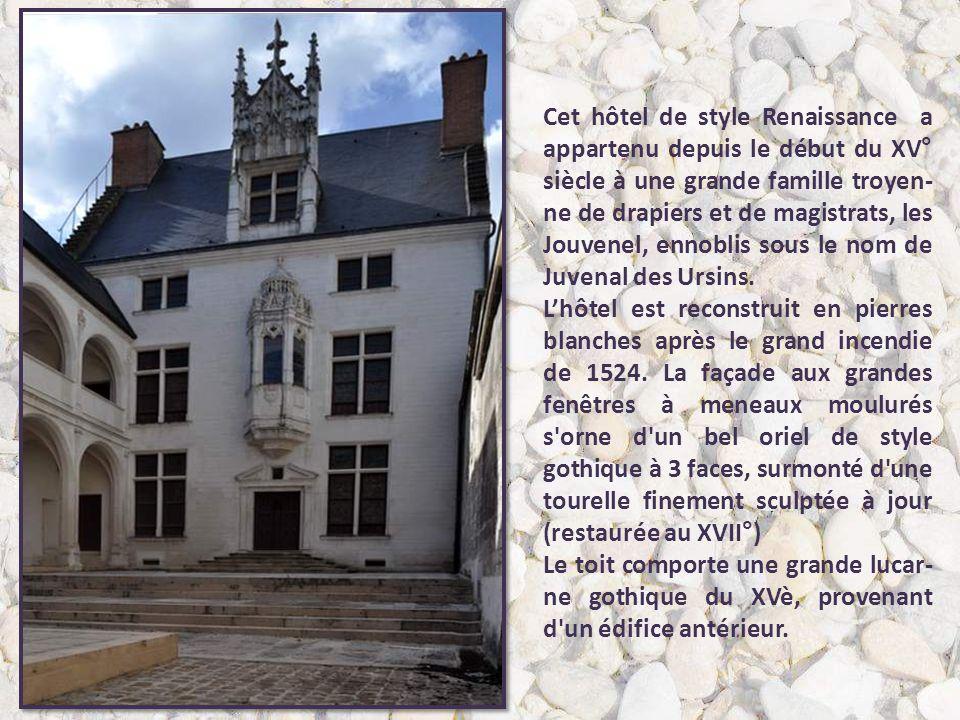 L'Hôtel Marisy est un hôtel parti- culier du XVIe siècle. C'est Claude de Marisy, ancien maire de la ville, qui a construit cet hôtel entre 1528 et 15