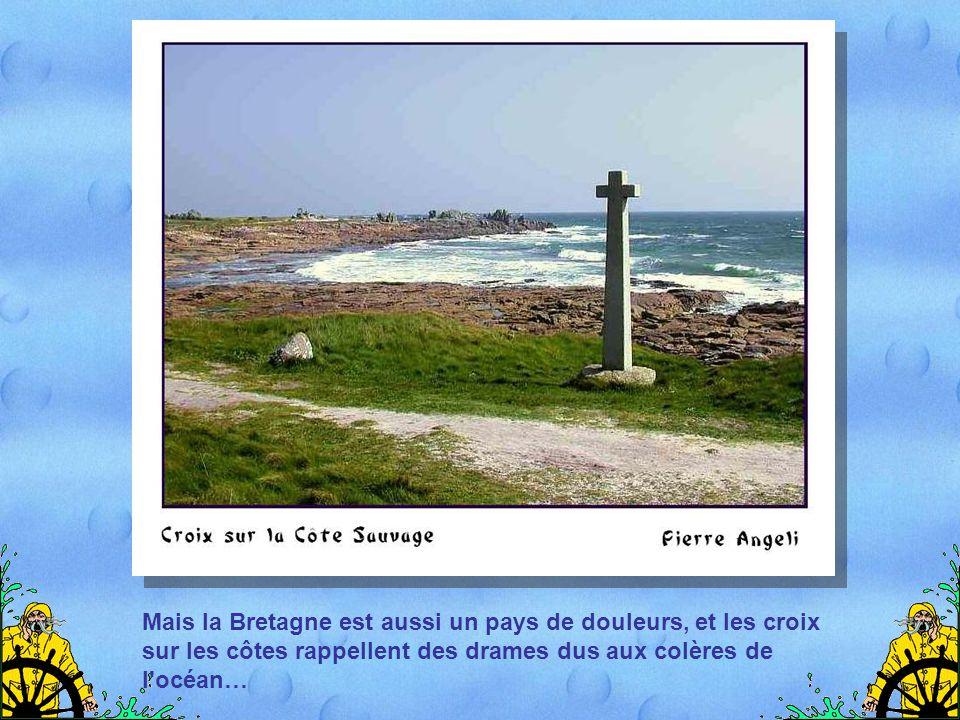 Les rochers de Bretagne ont une beauté étrange, due à leurs formes découpées et à leur végétation colorée, changeante selon les saisons.