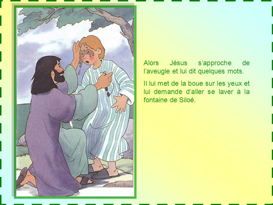 Jésus passe par là et le voit. Il a envie de laider.