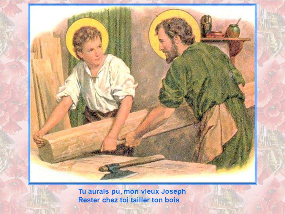 Tu aurais pu, mon vieux Joseph Rester chez toi tailler ton bois