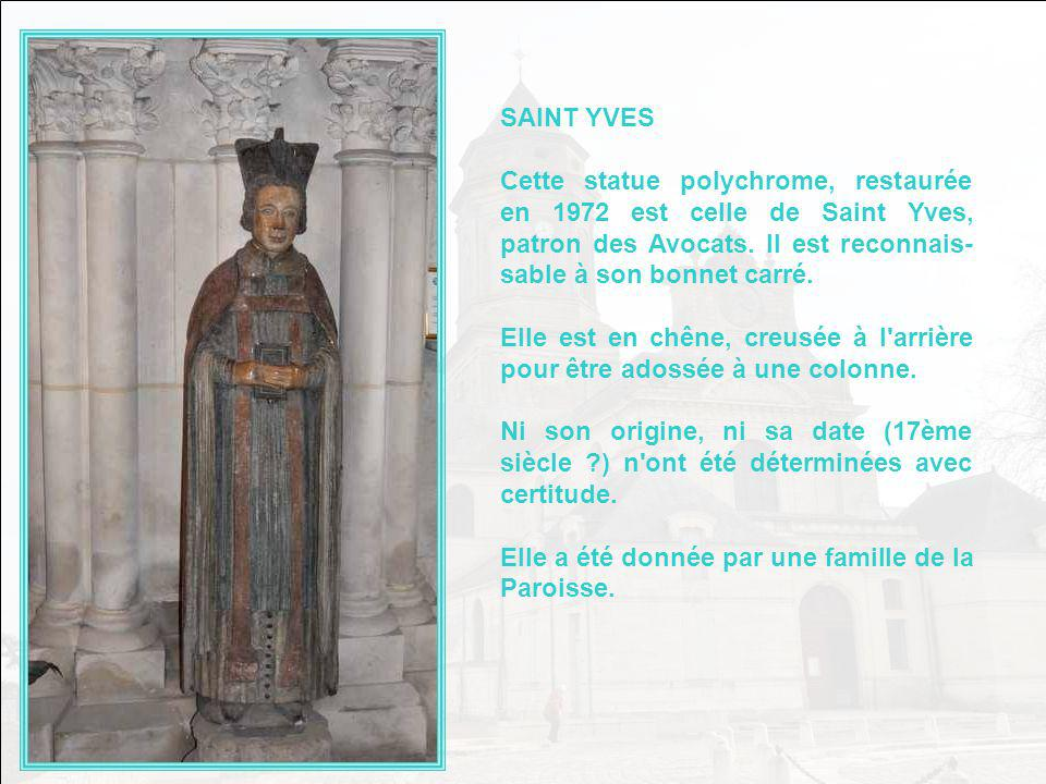 LA VIERGE DU BIEN MOURIR Avant sa restauration, elle portait des traces importantes de polychromie. Comme dans la plupart des statues d'avant la renai